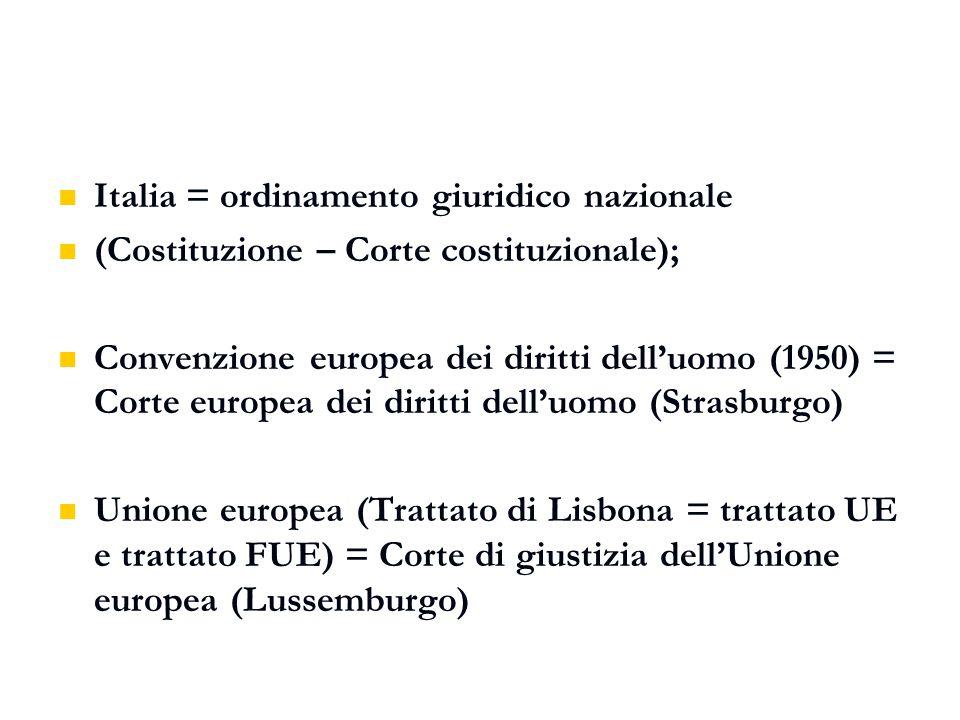 Italia = ordinamento giuridico nazionale