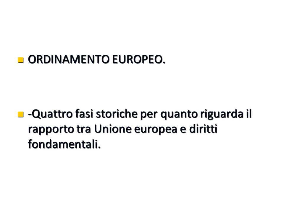 ORDINAMENTO EUROPEO.