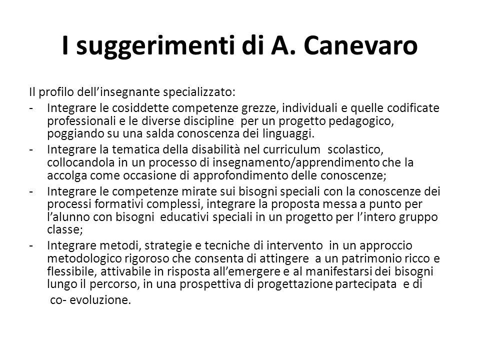 I suggerimenti di A. Canevaro