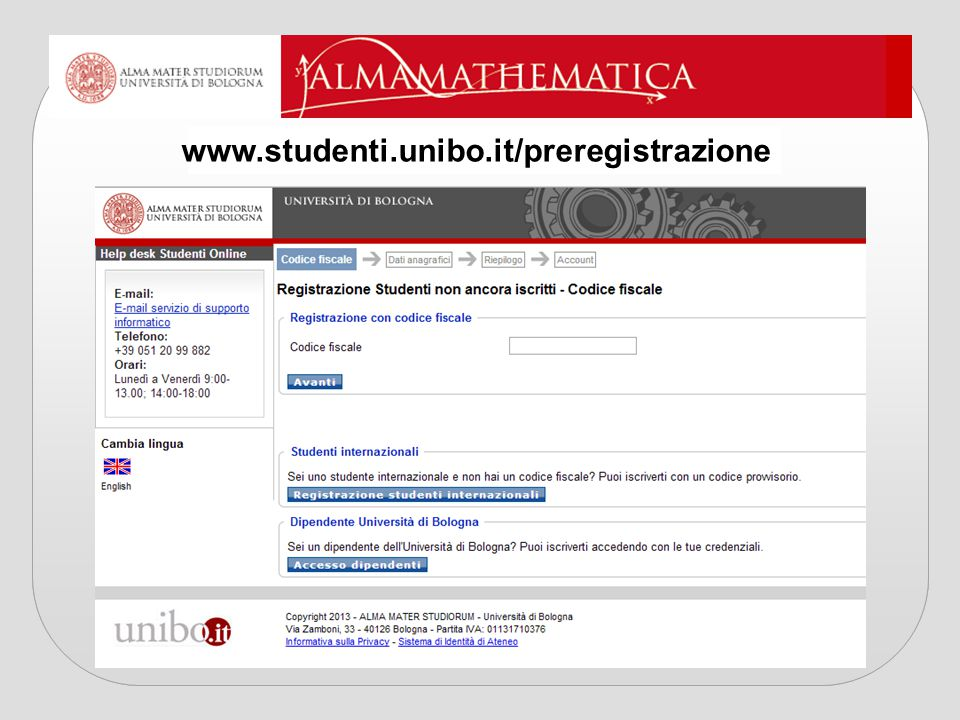 www.studenti.unibo.it/preregistrazione