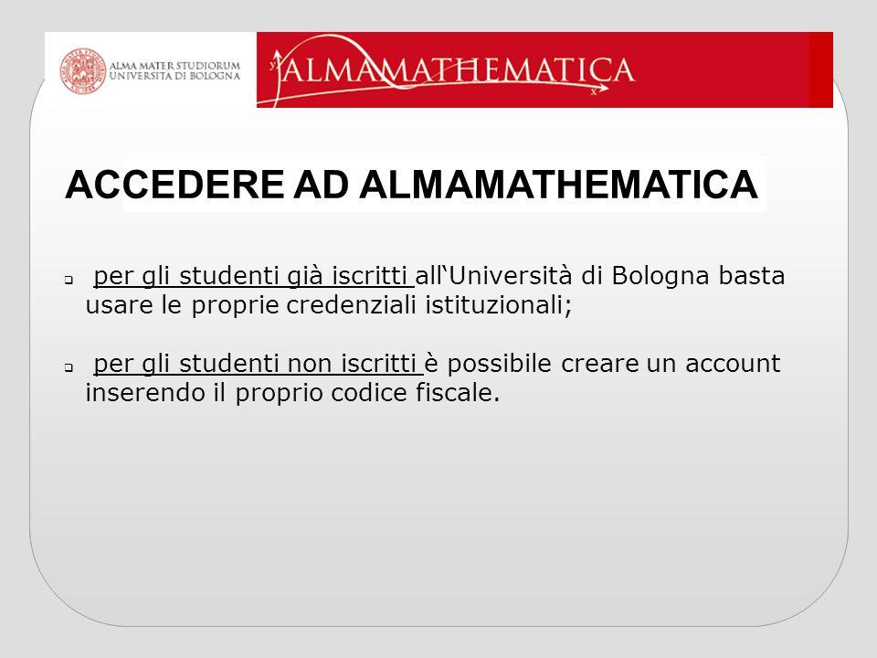 ACCEDERE AD ALMAMATHEMATICA