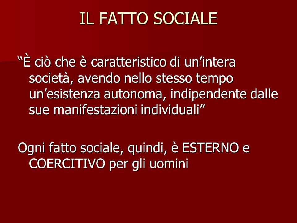 IL FATTO SOCIALE