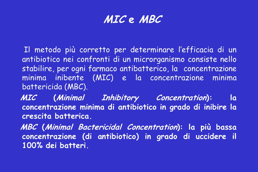 MIC e MBC