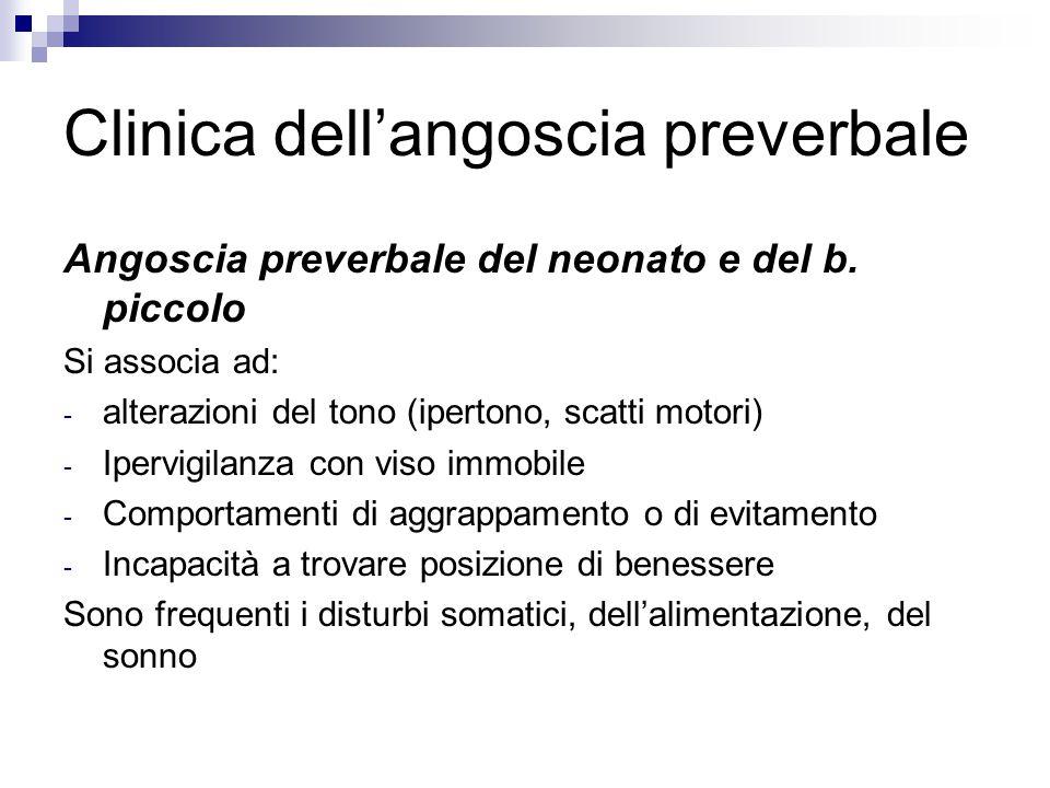 Clinica dell'angoscia preverbale