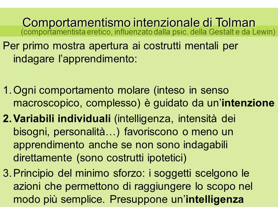 Comportamentismo intenzionale di Tolman