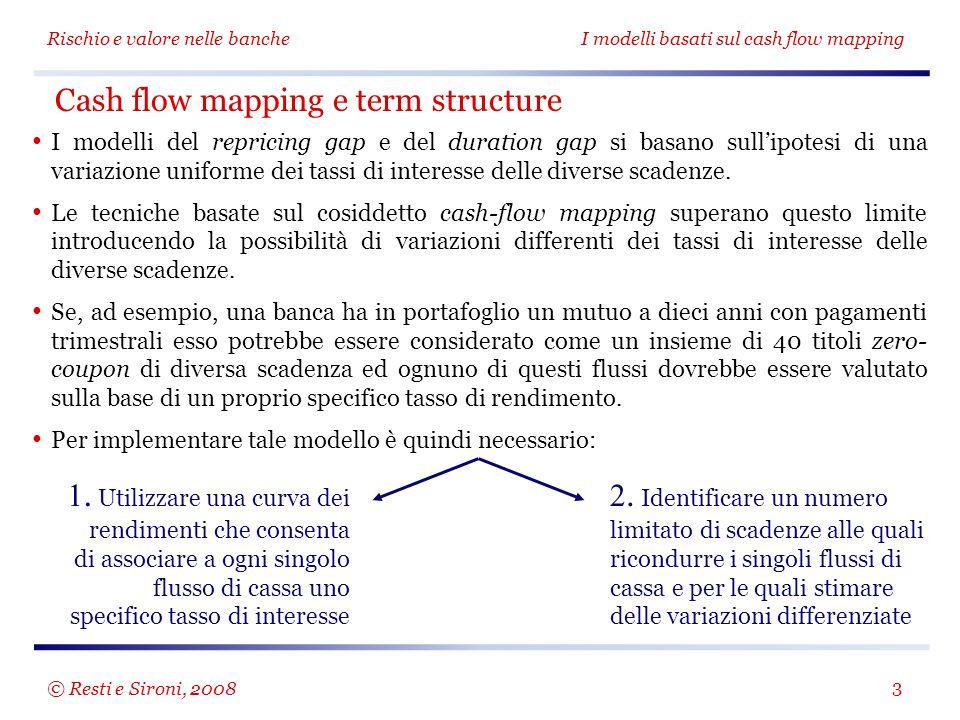 Cash flow mapping e term structure