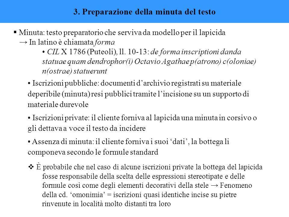 3. Preparazione della minuta del testo