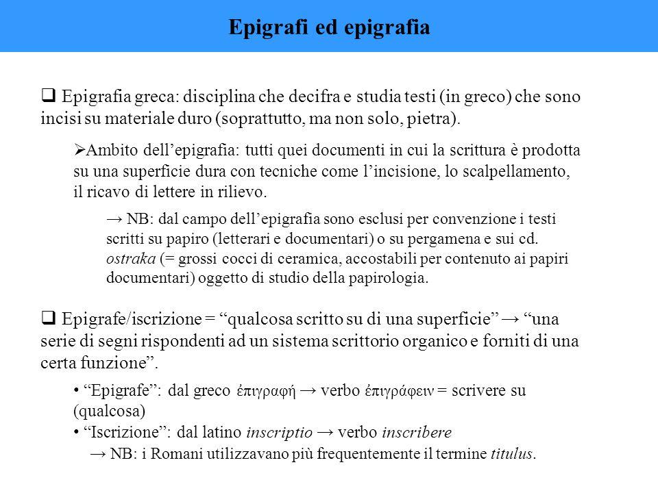 Epigrafi ed epigrafia