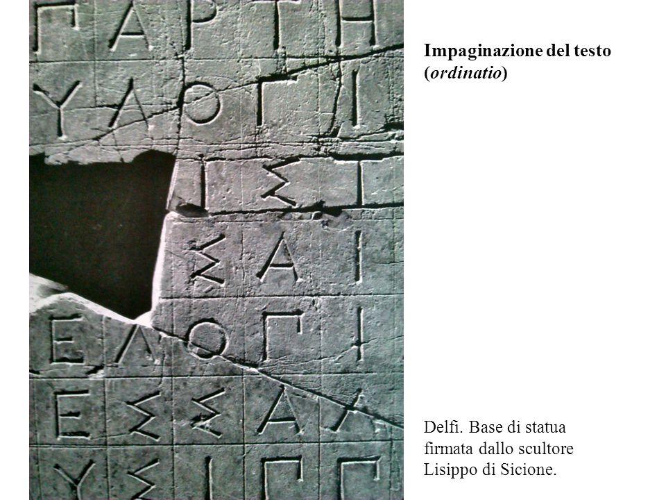 Impaginazione del testo (ordinatio)