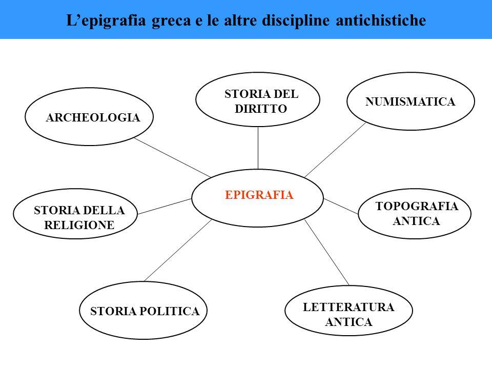 L'epigrafia greca e le altre discipline antichistiche