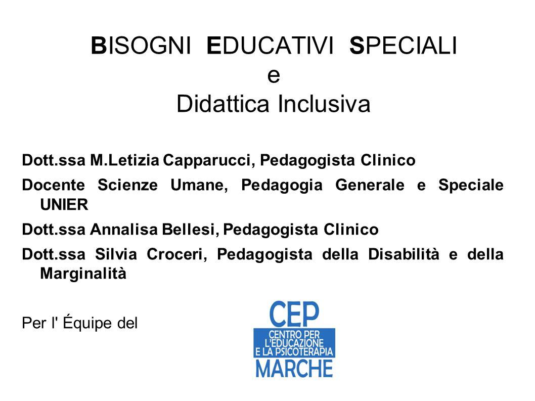 BISOGNI EDUCATIVI SPECIALI e Didattica Inclusiva