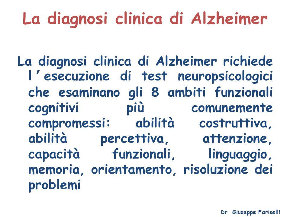 La diagnosi clinica di Alzheimer