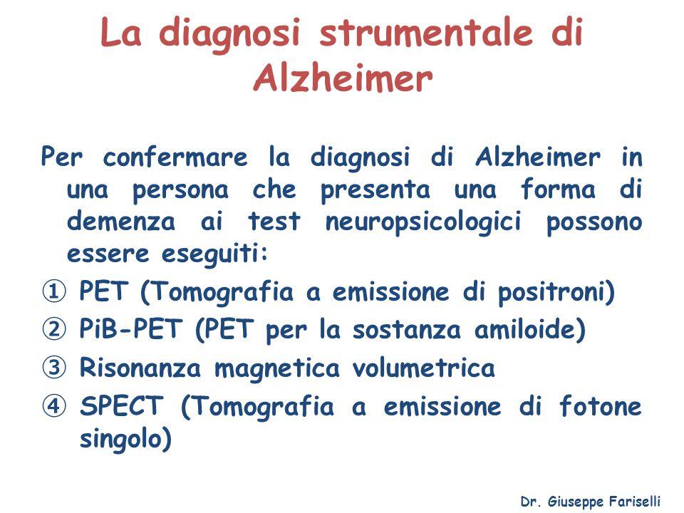 La diagnosi strumentale di Alzheimer