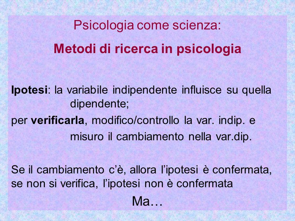 Metodi di ricerca in psicologia