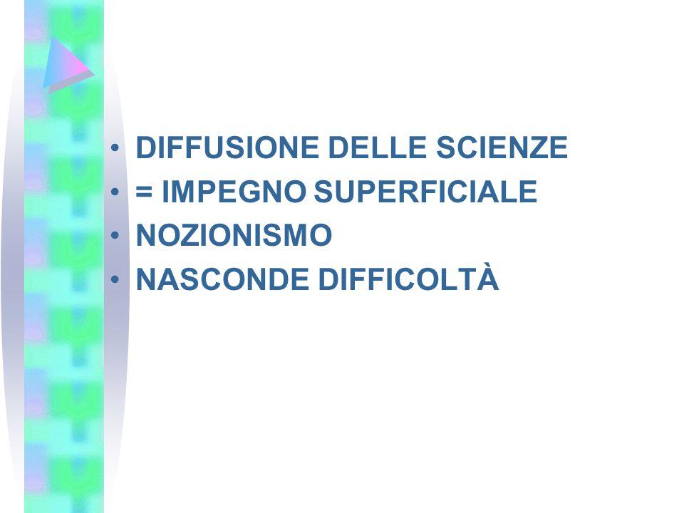 DIFFUSIONE DELLE SCIENZE
