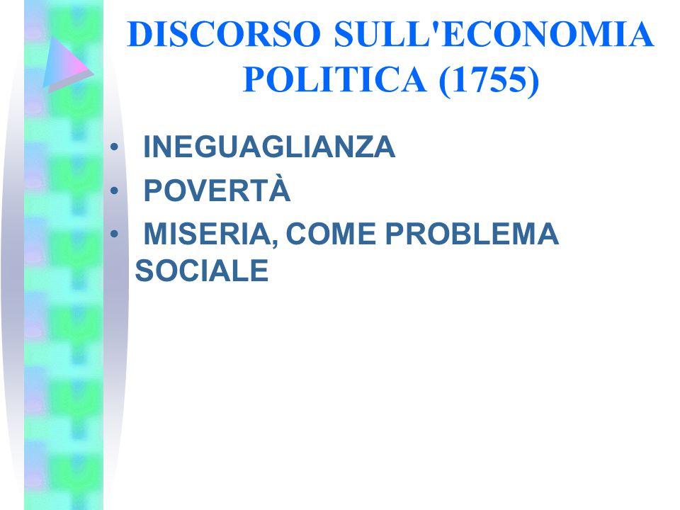 DISCORSO SULL ECONOMIA POLITICA (1755)