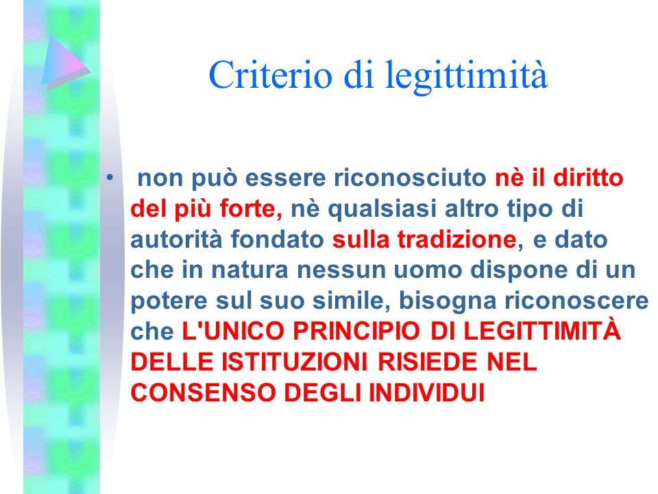 Criterio di legittimità