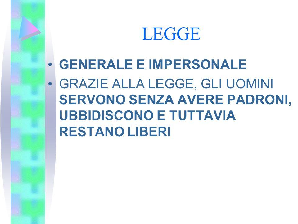 LEGGE GENERALE E IMPERSONALE