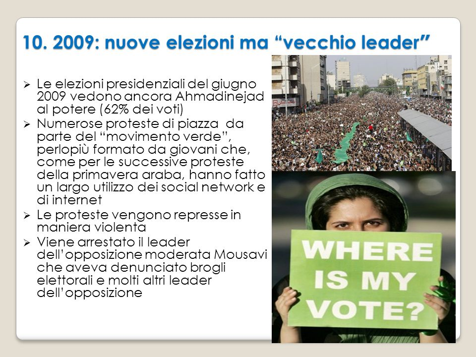 10. 2009: nuove elezioni ma vecchio leader