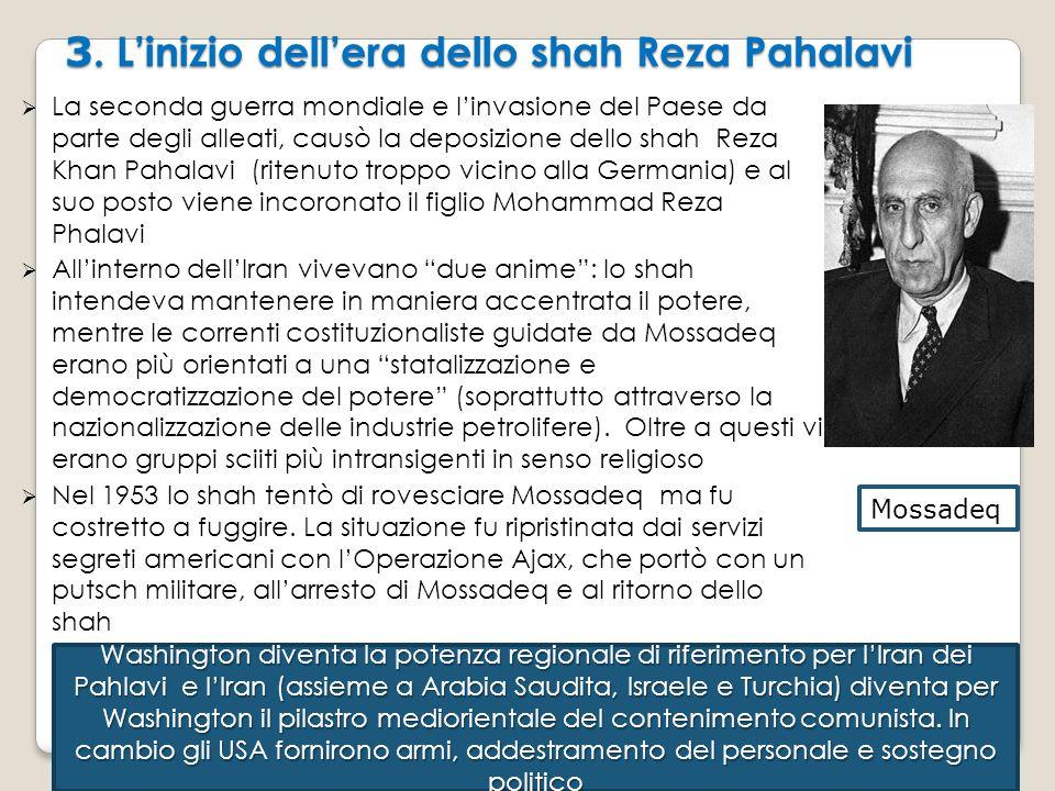 3. L'inizio dell'era dello shah Reza Pahalavi