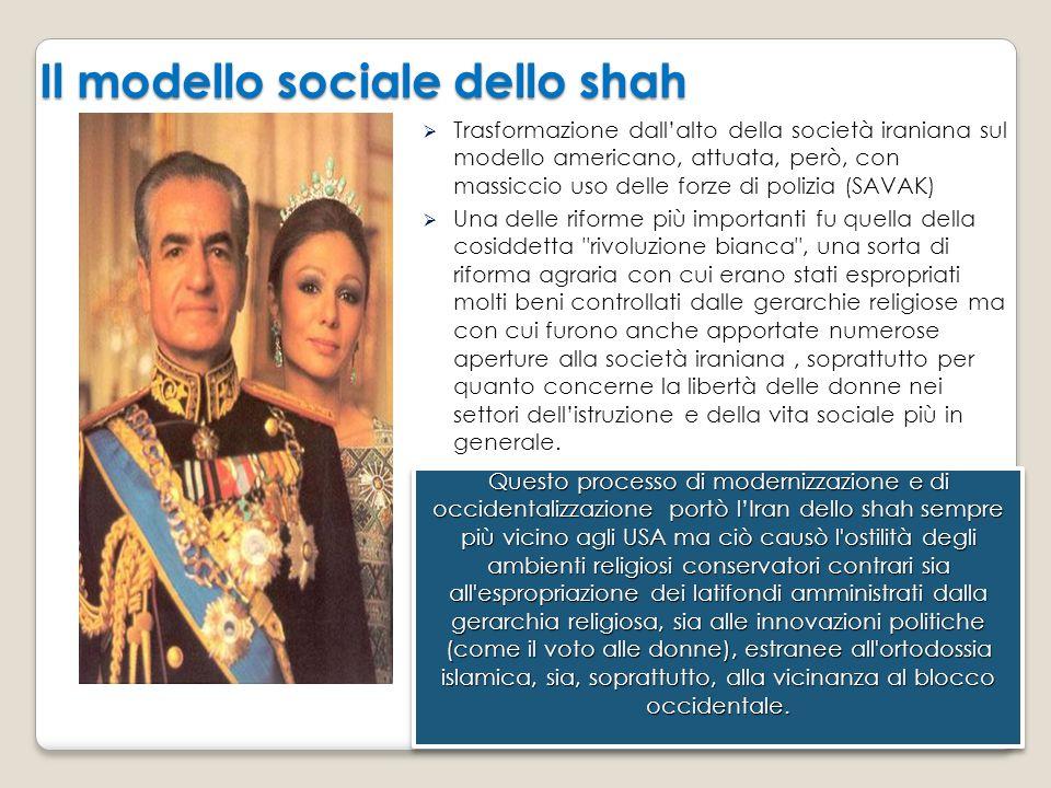 Il modello sociale dello shah