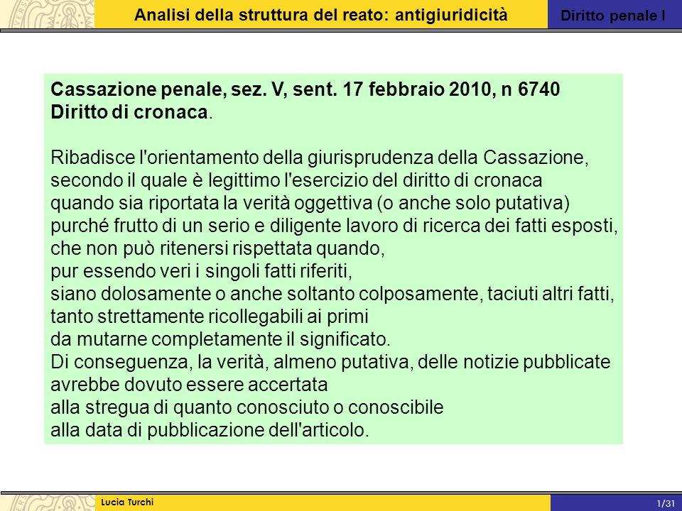 Cassazione penale, sez. V, sent. 17 febbraio 2010, n 6740