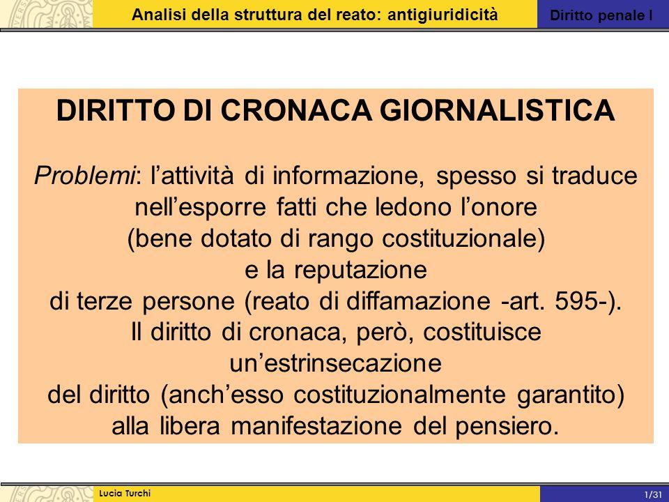 DIRITTO DI CRONACA GIORNALISTICA