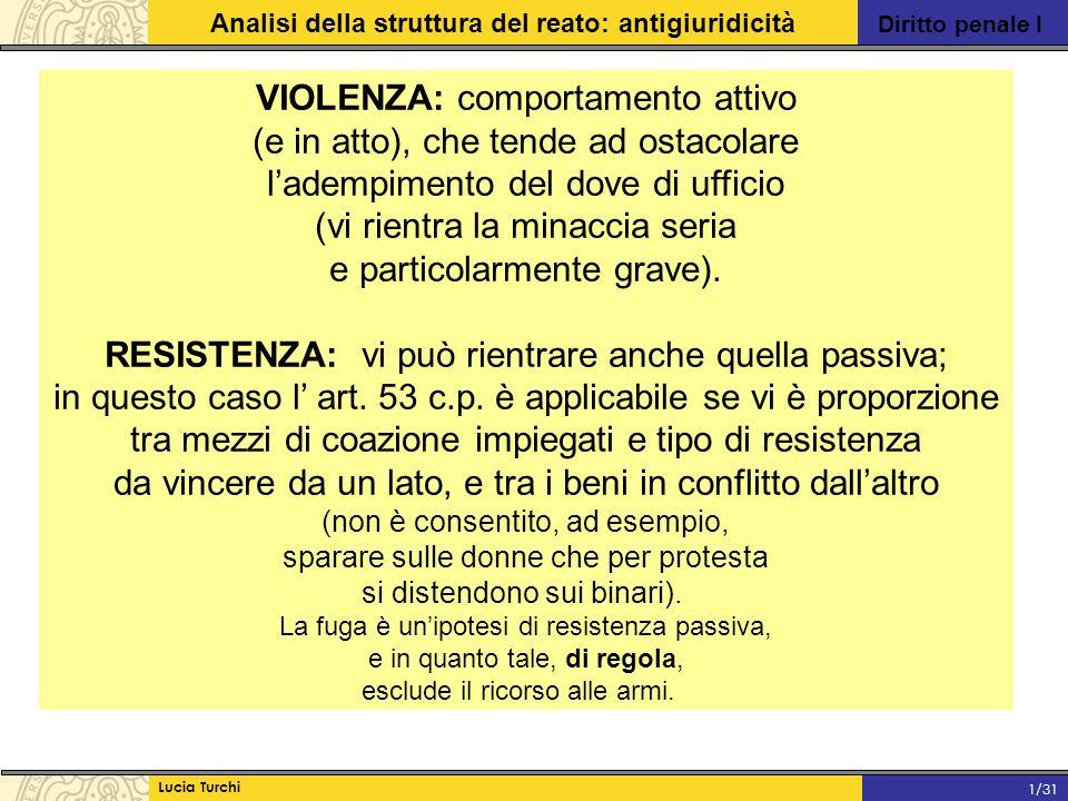 VIOLENZA: comportamento attivo (e in atto), che tende ad ostacolare