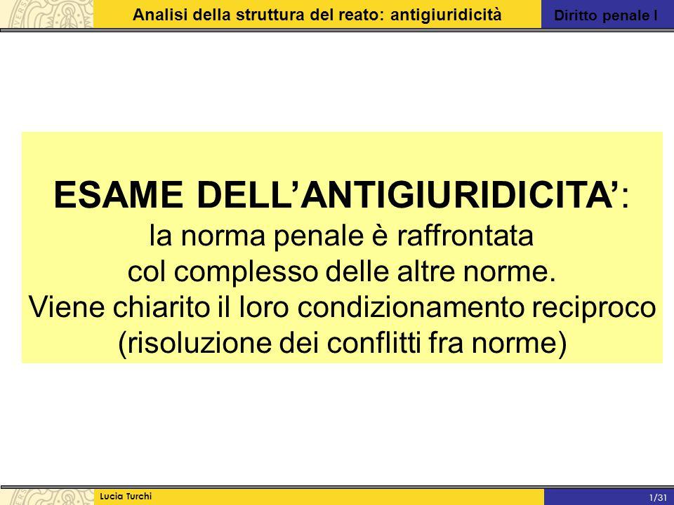 ESAME DELL'ANTIGIURIDICITA':