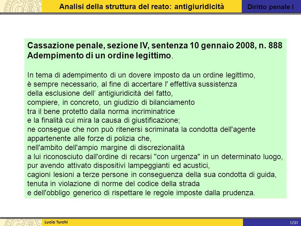 Cassazione penale, sezione IV, sentenza 10 gennaio 2008, n. 888