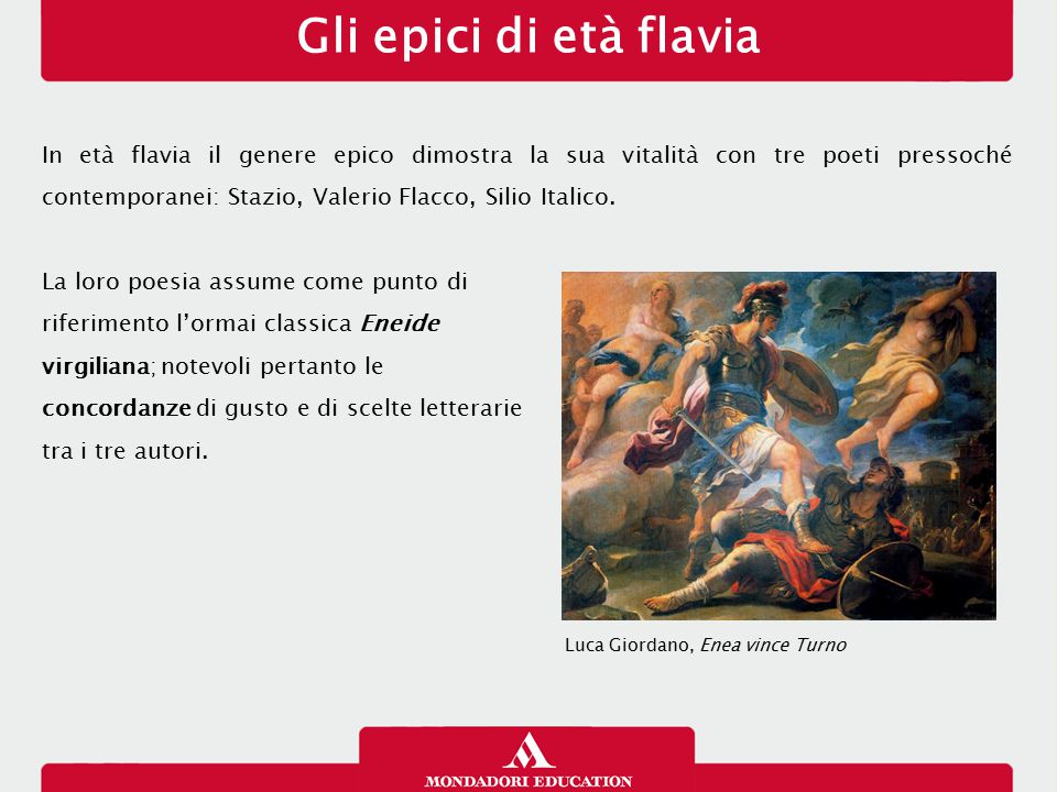 Gli epici di età flavia 17/01/13.