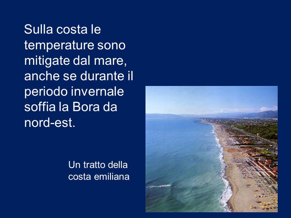Sulla costa le temperature sono mitigate dal mare, anche se durante il periodo invernale soffia la Bora da nord-est.