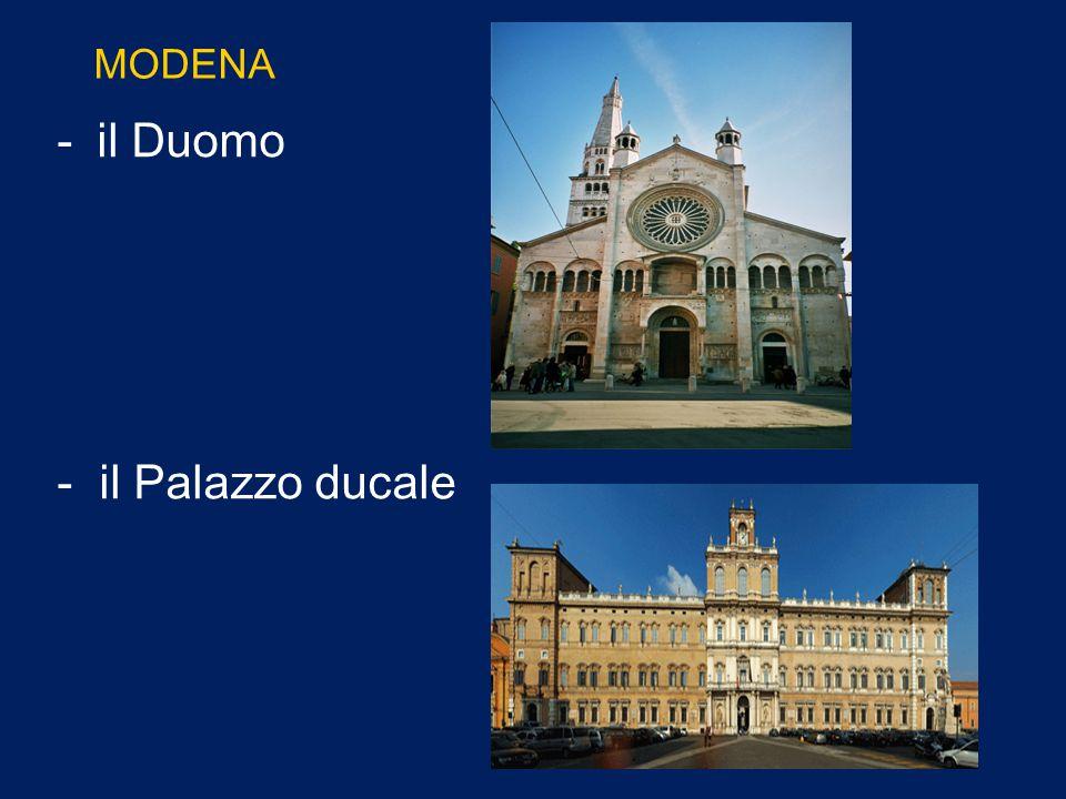MODENA il Duomo - il Palazzo ducale