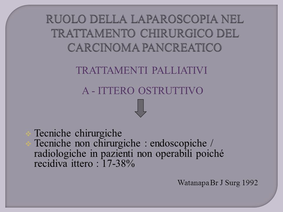 TRATTAMENTI PALLIATIVI