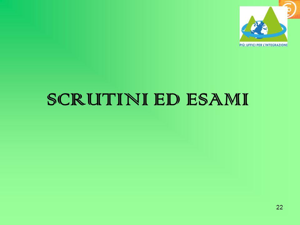 SCRUTINI ED ESAMI