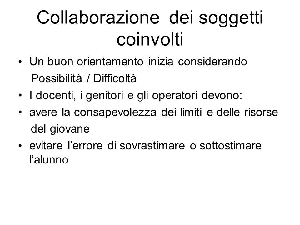 Collaborazione dei soggetti coinvolti