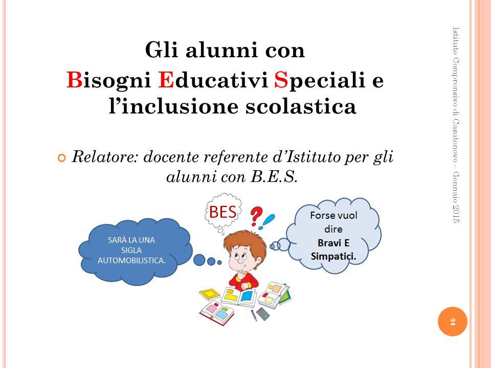 Bisogni Educativi Speciali e l'inclusione scolastica
