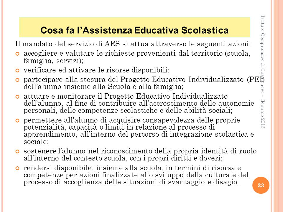 Cosa fa l'Assistenza Educativa Scolastica