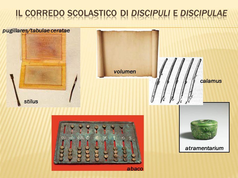 Il corredo scolastico di discipuli e discipulae