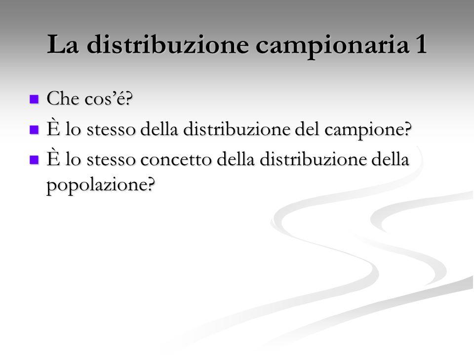 La distribuzione campionaria 1