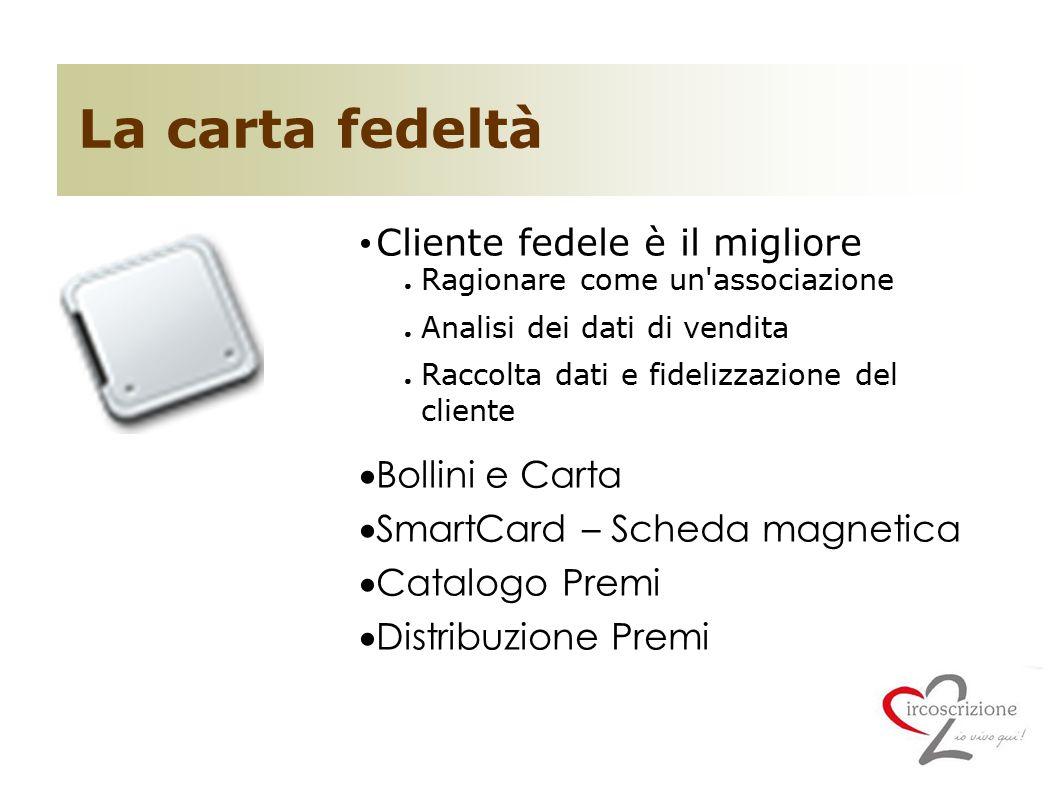 La carta fedeltà Cliente fedele è il migliore Bollini e Carta
