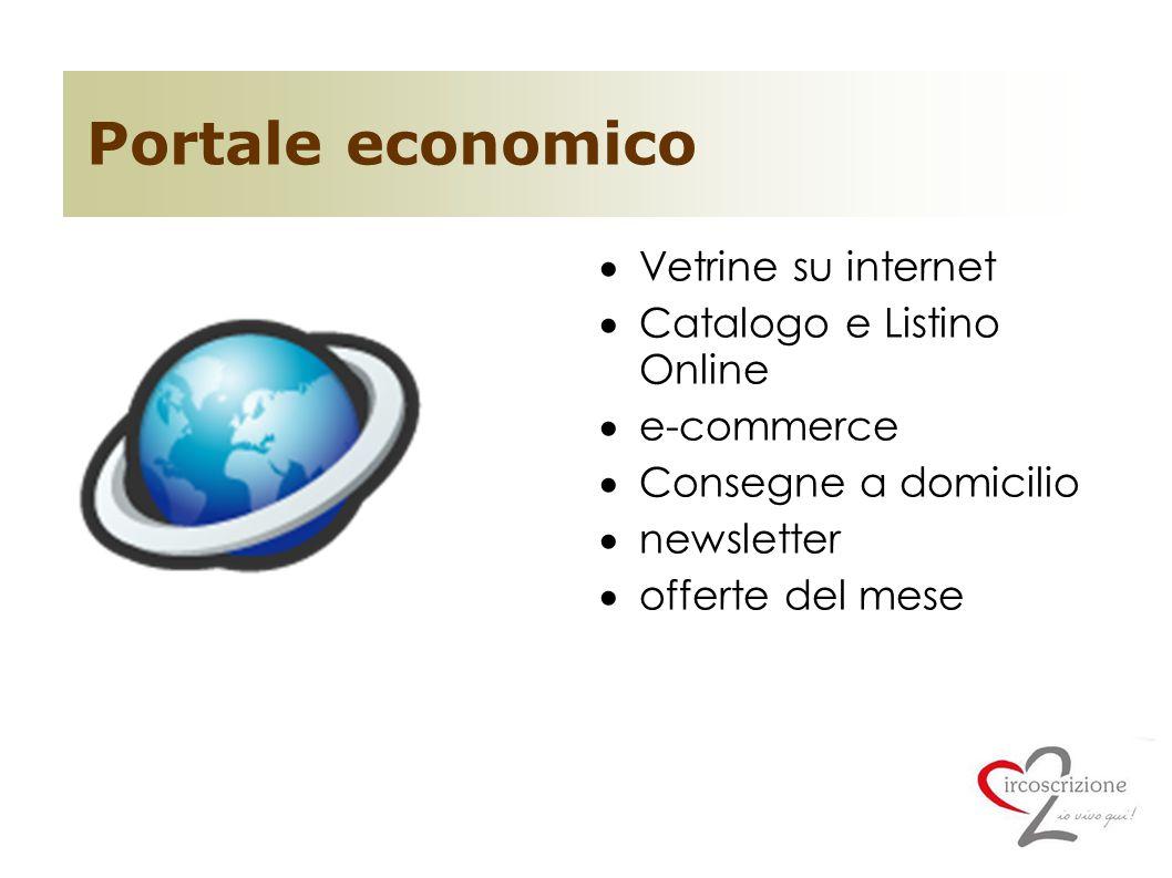 Portale economico Vetrine su internet Catalogo e Listino Online