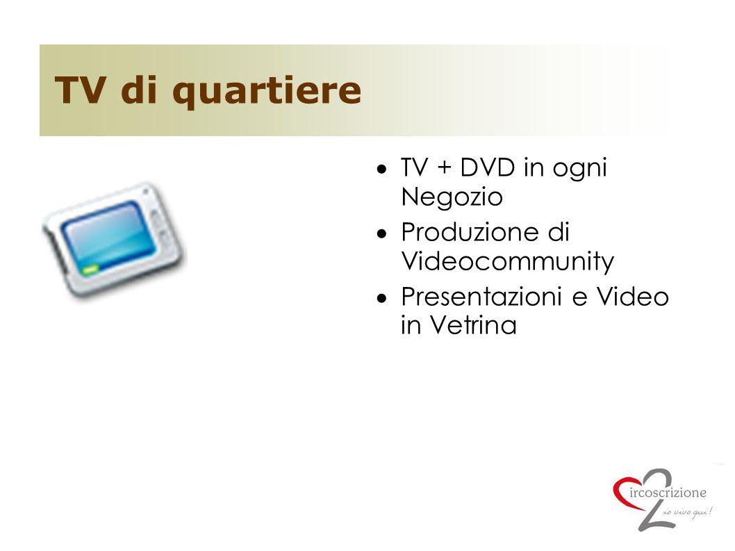 TV di quartiere TV + DVD in ogni Negozio Produzione di Videocommunity