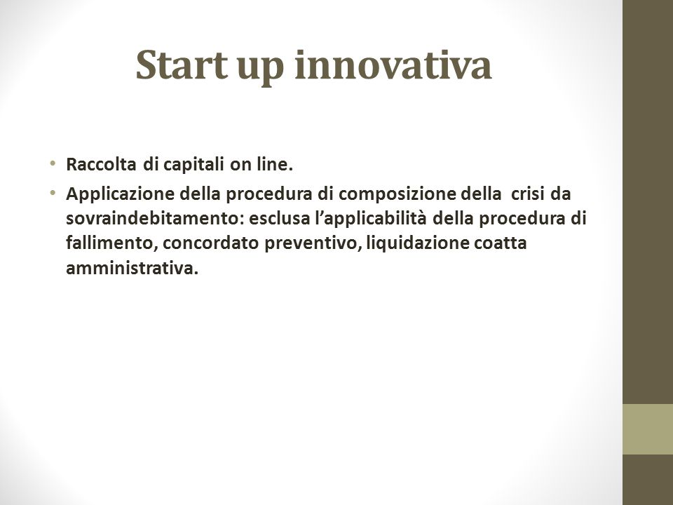 Start up innovativa Raccolta di capitali on line.