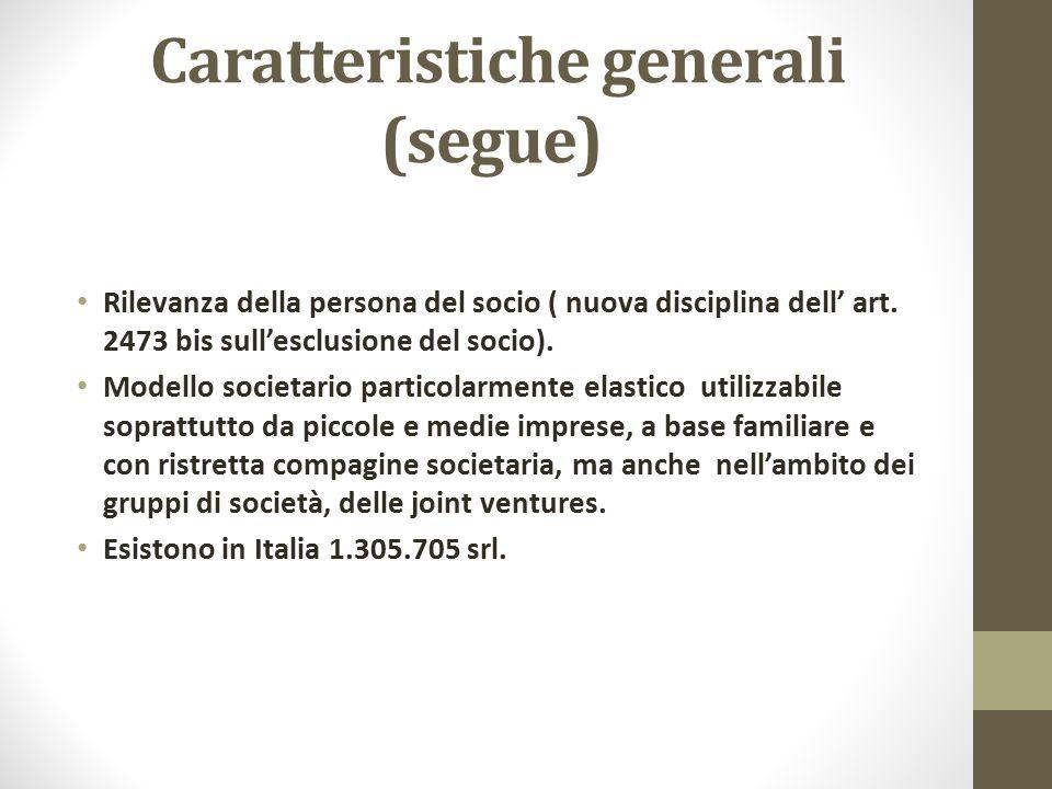 Caratteristiche generali (segue)