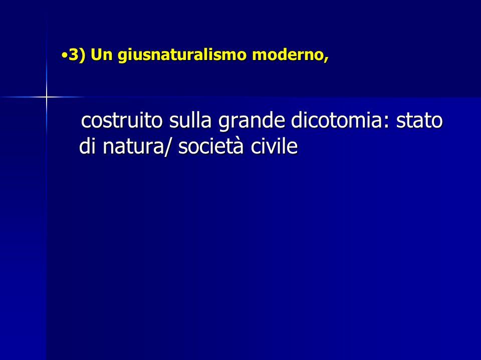 3) Un giusnaturalismo moderno,