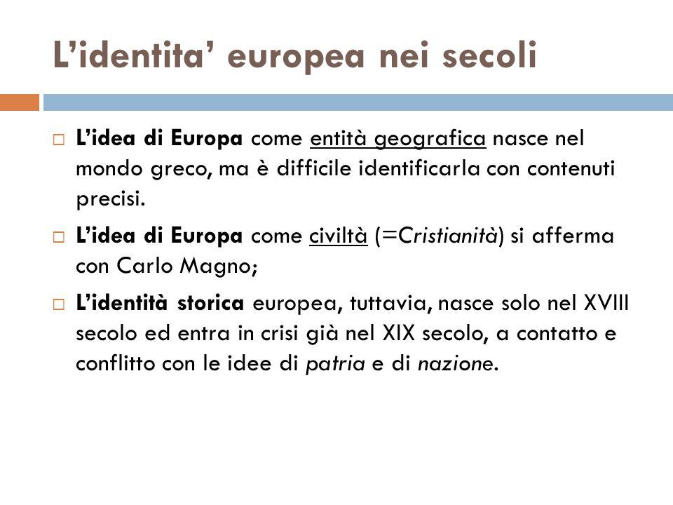 L'identita' europea nei secoli