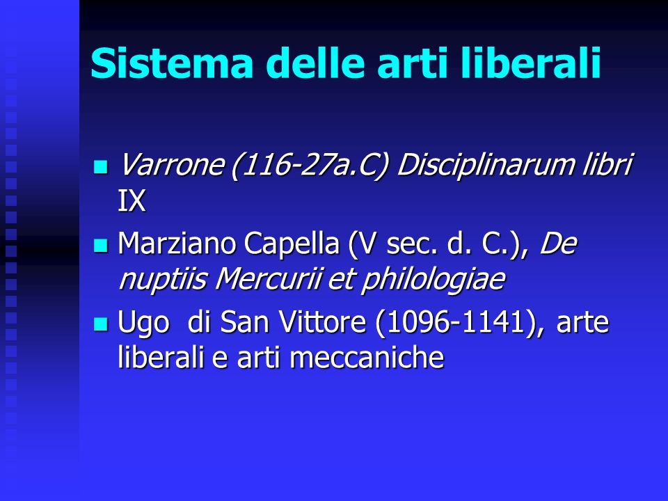 Sistema delle arti liberali