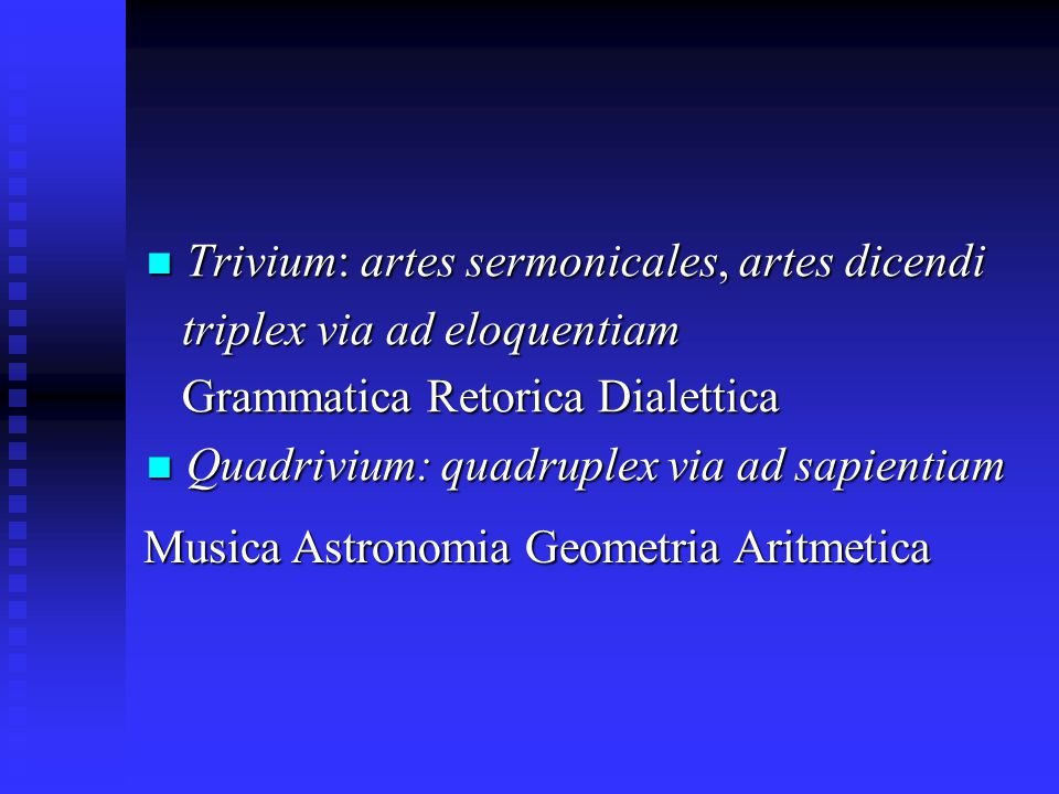 Trivium: artes sermonicales, artes dicendi
