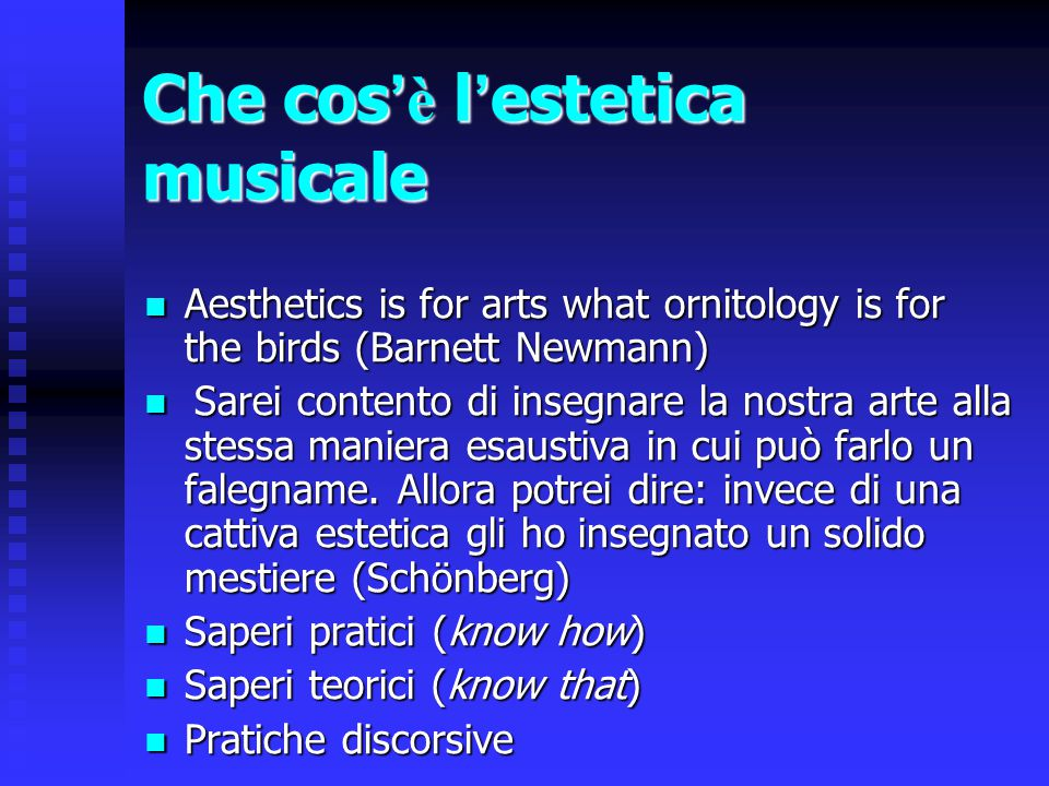 Che cos'è l'estetica musicale